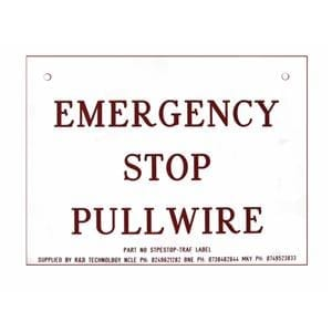 Emergency Stop Pullwire Sign